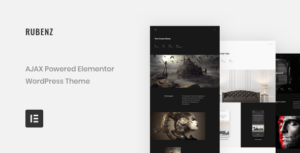 Rubenz – Creative Portfolio AJAX Elementor WordPress Theme