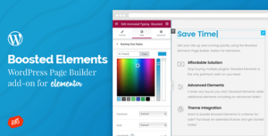 Boosted Elements – WordPress Page Builder Add-on for Elementor