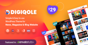 Read more about the article Digiqole – News Magazine Elementor WordPress Theme