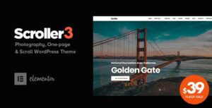 Scroller – Photography One Page & Multi-page WordPress Elementor Theme