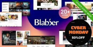Read more about the article Blabber – Blog & News Magazine WordPress Theme