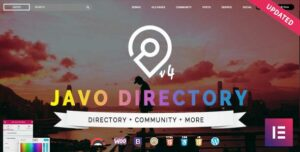 Javo Directory Elementor WordPress Theme