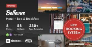 Bellevue – Hotel Bed and Breakfast Booking Calendar Elementor WordPress Theme