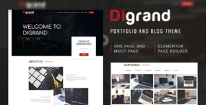 Digrand – Portfolio And Blog Elementor WordPress Theme