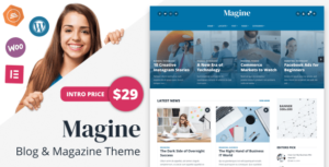 Magine – Business Blog WordPress Elementor Theme