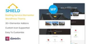Shield – Roofing Service WordPress Elementor Theme