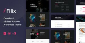 Filix – Creative Minimal Portfolio Elementor WordPress Theme
