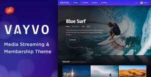 Vayvo – Media Streaming & Membership WordPress Elementor Theme