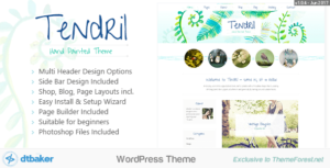 Tendril – Blog & Shop Elementor WordPress Theme