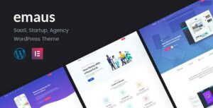 Emaus – SaaS App and Startup Elementor WordPress Theme
