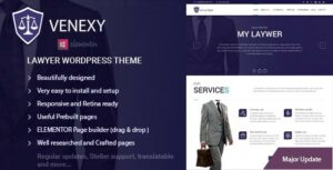 Venexy – Lawyer Elementor WordPress Theme