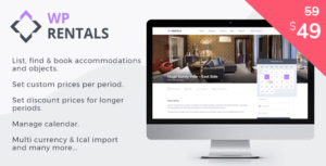 WP Rentals – Booking Accommodation Elementor WordPress Theme