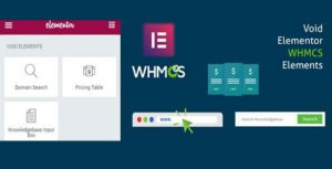 Elementor WHMCS Elements Pro For Elementor