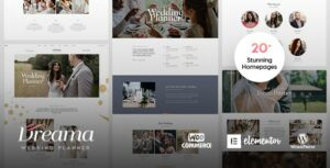 Dreama – Engagement & Wedding Planner ElementorWordPress Theme