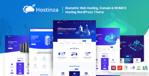 Hostinza – Isometric Domain & Whmcs Web Hosting Elementor WordPress Theme