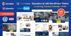 Edubin – Education LMS WordPress Elementor Theme