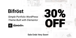 Bifrost – Simple Portfolio Elementor WordPress Theme