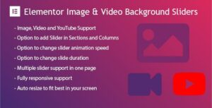Elementor Background Image & Video Slider Plugin