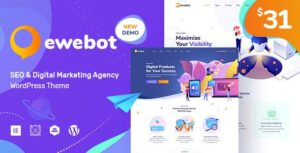 Ewebot – Marketing SEO Digital Agency Elementor WordPress Theme