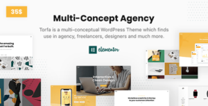 Torfa – Multi Concept Agency Elementor WordPress Theme