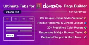 Ultimate Tabs – Addon for Elementor WordPress Plugin
