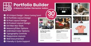 Portfolio Builder – Post/Product/Portfolio Masonry Filter Elementor Add-on