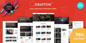 Grafton – Blog & Magazine Elementor WordPress Theme