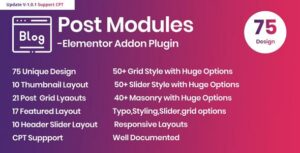 Posts Modules – Elementor Addon WordPress Plugin