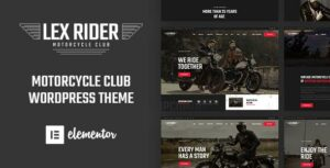 LexRider – Motorcycle Club WordPress Elementor Theme