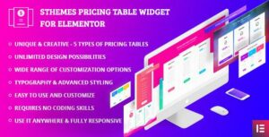 Pricing Table Widgets by SThemes for Elementor