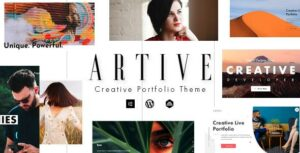 Artive – Creative Portfolio Elementor WordPress Theme