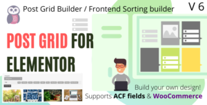 Elementor Post Grid Builder – Frontend Sort and Filter