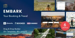 Embark – Tour Booking & Travel WordPress Elementor Theme