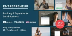 Read more about the article Entrepreneur – Booking for Small Businesses | Elementor WordPress Theme
