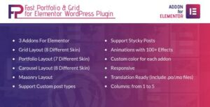 Fast Portfolio & Grid for Elementor WordPress Plugin