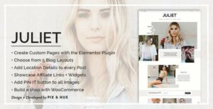 Juliet – A Blog & Shop Elementor WordPress Theme