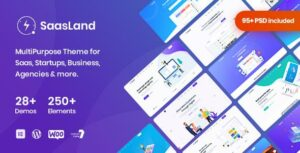 Saasland – MultiPurpose WordPress Elementor Theme for Startup