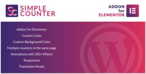Simple Counter for Elementor WordPress Plugin