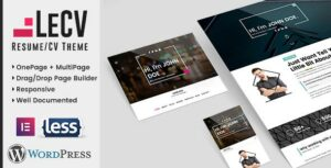 LeCV – Creative Responsive Resume and CV Elementor WordPress Theme