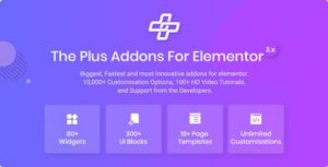 The Plus – Addon for Elementor WordPress Add-on