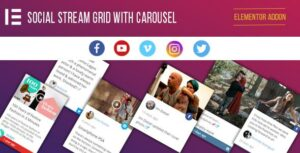 Social Stream Grid With Carousel for Elementor