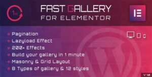 Fast Gallery for Elementor WordPress Plugin