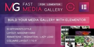 Fast Media Gallery For Elementor – WordPress Plugin