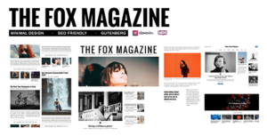 The Fox – Minimal Blog Magazine Elementor WordPress Theme