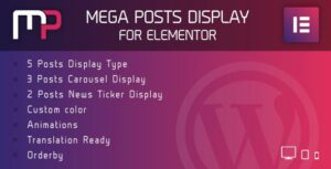 Mega Posts Display for Elementor – Premium WordPress AddOn
