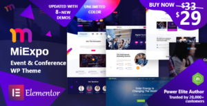 MiExpo – Event Conference Elementor WordPress Theme