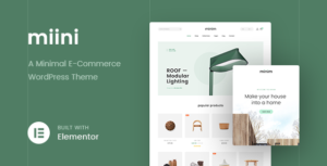 Miini – A Minimal WooCommerce Elementor WordPress Theme