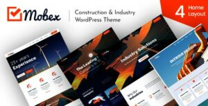 Mobex – Construction & Industry WordPress Elementor Theme