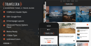 Travelera – WordPress Elementor Blog Theme