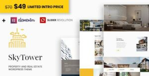 SkyTower – Real Estate and Construction WordPress Elementor Theme